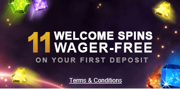 11 Wager-free Spins at VideoSlots Casino