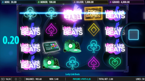 3D Slot Lucky Link Beats