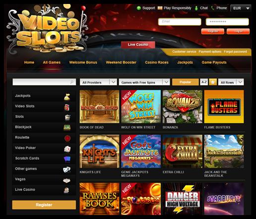 VideoSlots bonus