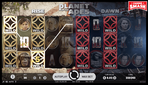 Planet of the Apes Popular Video Slot Machine Game