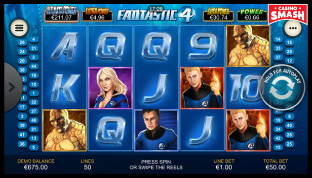 Fantastic Four Video Slot Game