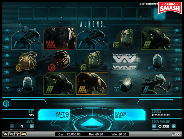 Aliens Game Video Slot