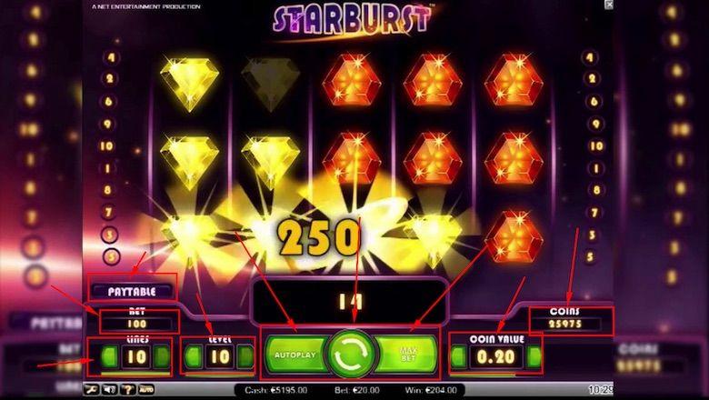 Starburst su NetBet Casino Bitcoin