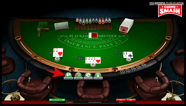 Blackjack Surrender - Surrender Option