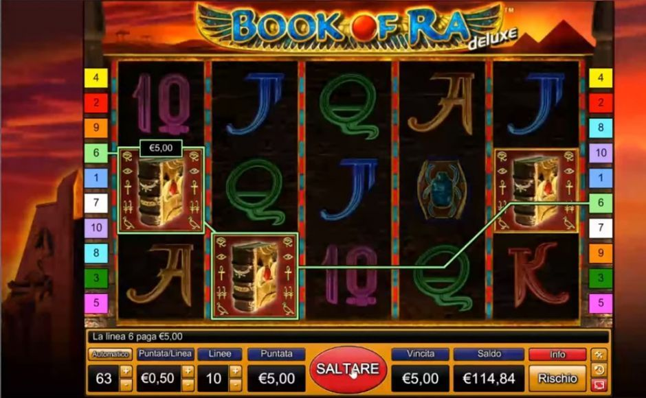 Book of Ra - Slot da Bar