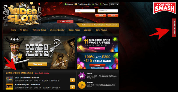 Battle of Slots at VideoSlots Casino