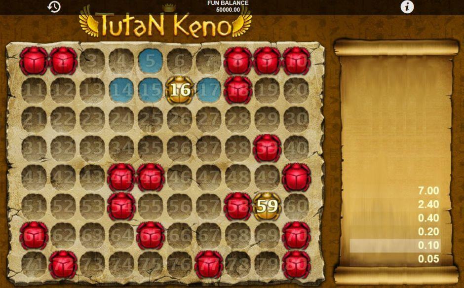 free tutan keno