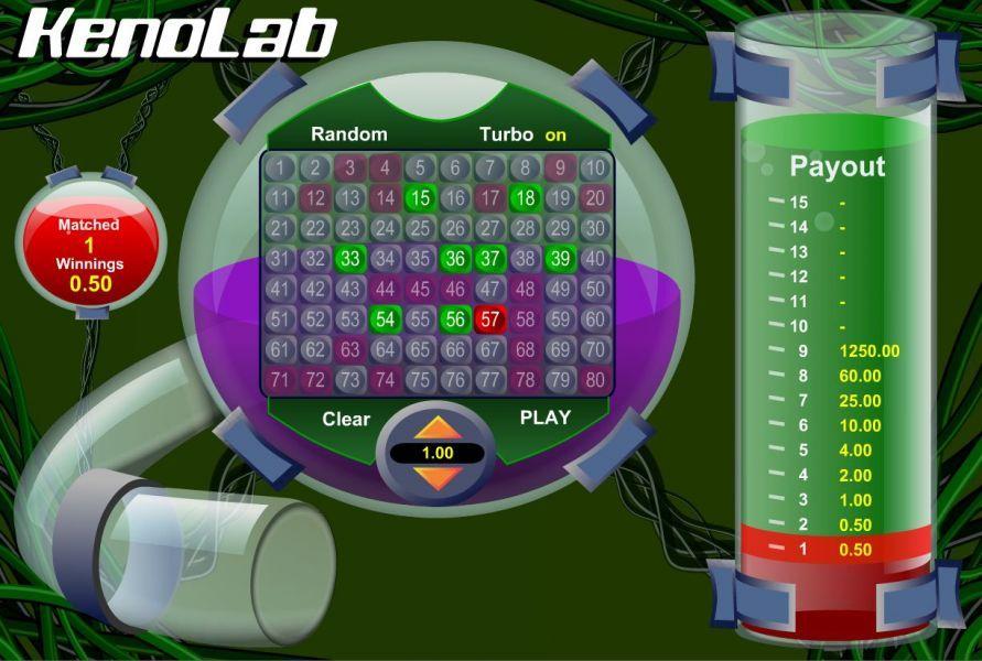 free keno lab game