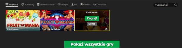 Fruit Mania bez depozytu