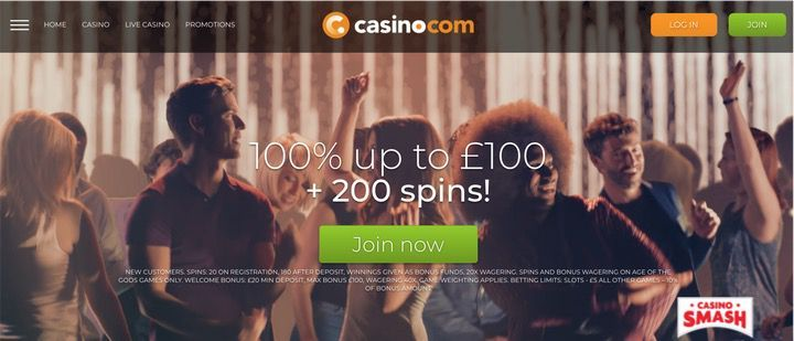 Casino.com Free Spins with no deposit to play Starburst