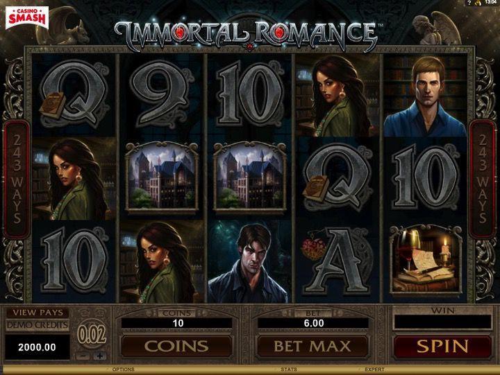 Caino Slot in 3d Online: Immortal Romance