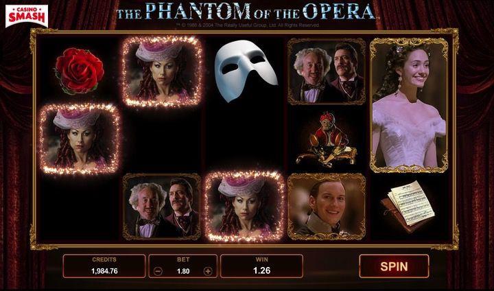 3D Slot Gratis: Il Fantasma dell'Opera