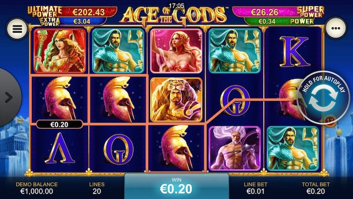 The Age of The Gods - Casino Playtech