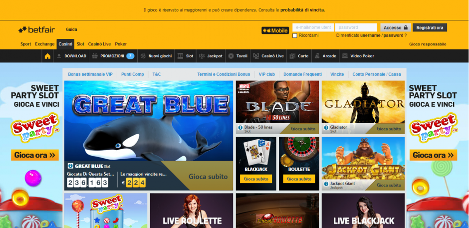 Betfair - Casino Playtech