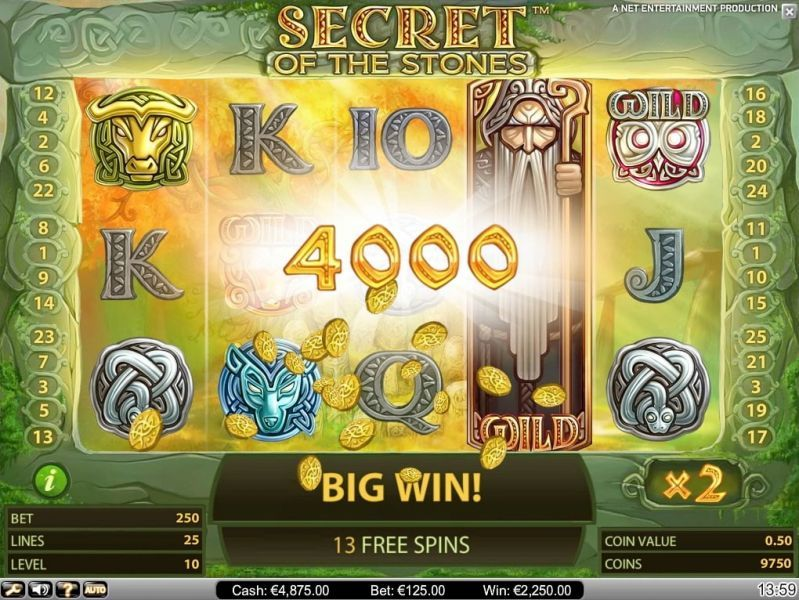 Casino Netent Slot Secret of the Stones