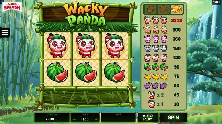 Wacky Panda  Slot Mobile India