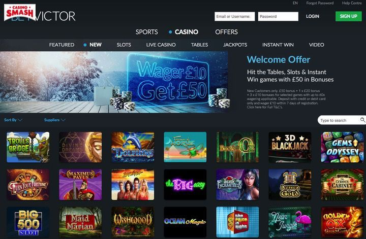 Betvictor top free slot games