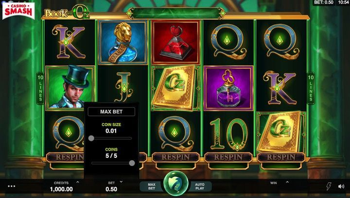 Book of Oz Slot Machine On Line