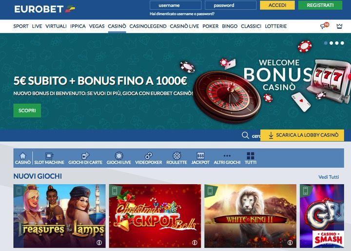 Migliori Casinò Netent: Eurobet