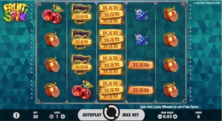 Slot On Line Netent in Italia: Fruit Spin