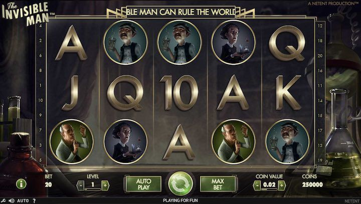 Netent video slot: l'uomo invisibile