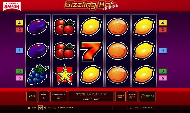 Anche la Slot Sizzling Hot è di Novomatic