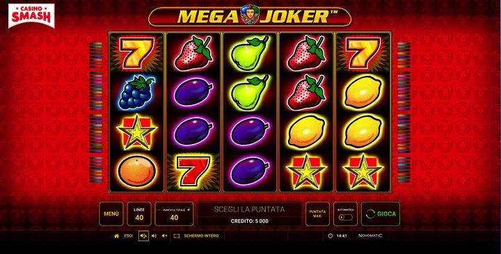 Giri gratis per la video slot Novomatic Mega Joker