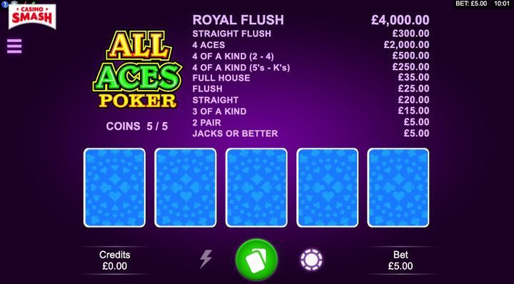 All Aces Video poker in Italiano