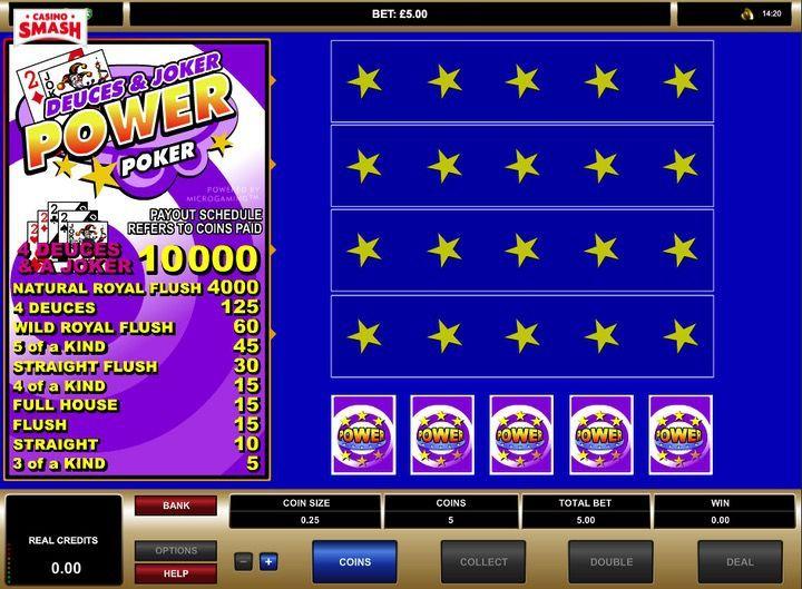Deuces and Joker Power Poker giochi gratis di Slot machine e video poker