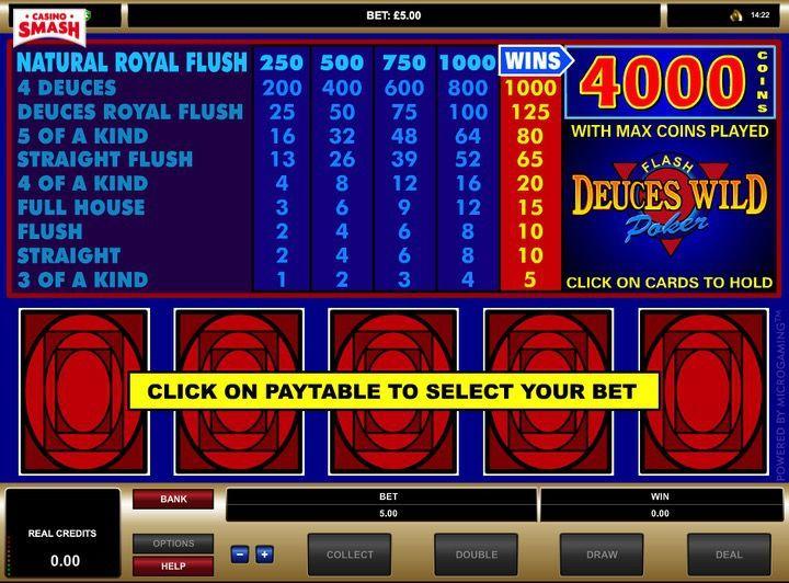 Deuces Wild macchinette di video poker gratis online