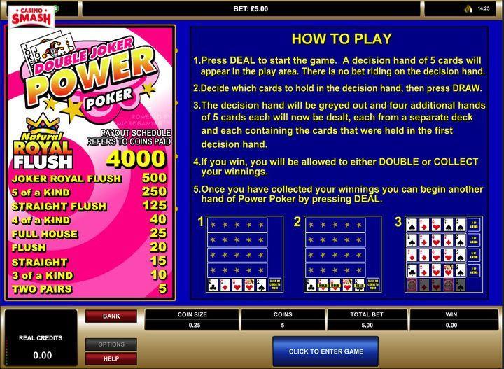 Gioca Double Joker Power Poker Multi Hand Gratis in Italiano su Betway