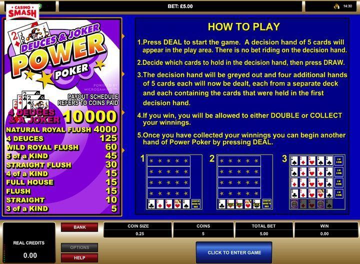 Power Poker Joker Poker