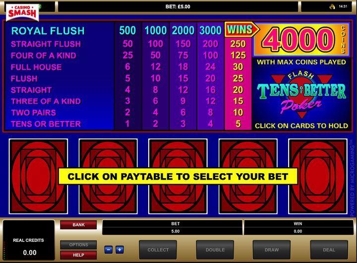 Tens or Better è un gioco divertentissimo per vincere soldi veri