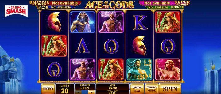 Age of the Gods è una delle migliori VLT on line di PlayTech