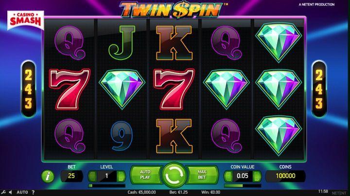 Puoi giocare gratis a Twin Spin (o vincere soldi veri)