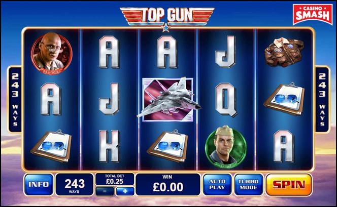 tv film-inspired slot:  top gun