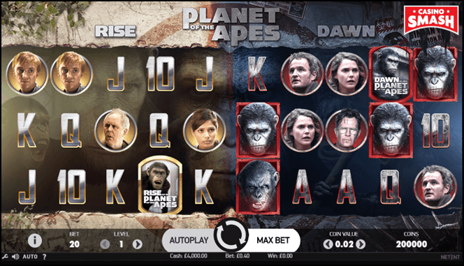tv film-inspired slot: planet of the apes
