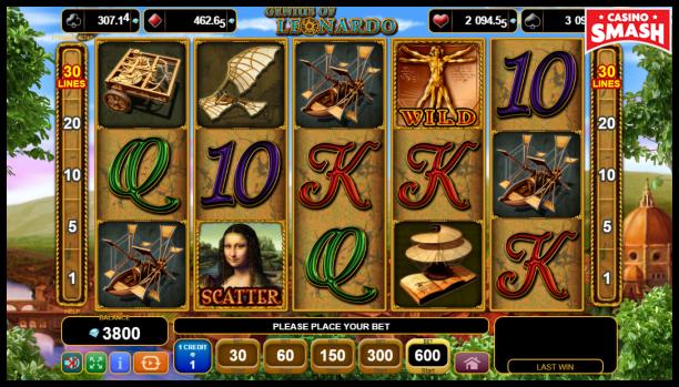Free EGT Slots: Genius of Leonardo