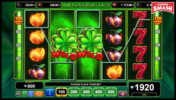 Free EGT Slots: 100 Burning Hot