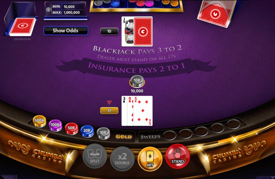 blackjack chumba casino online