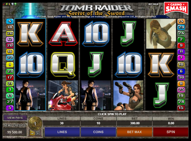 Tomb Raider: Secret of the Sword Slot
