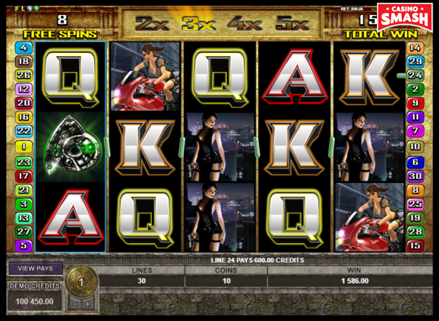 Tomb Raider Slots free spins feature
