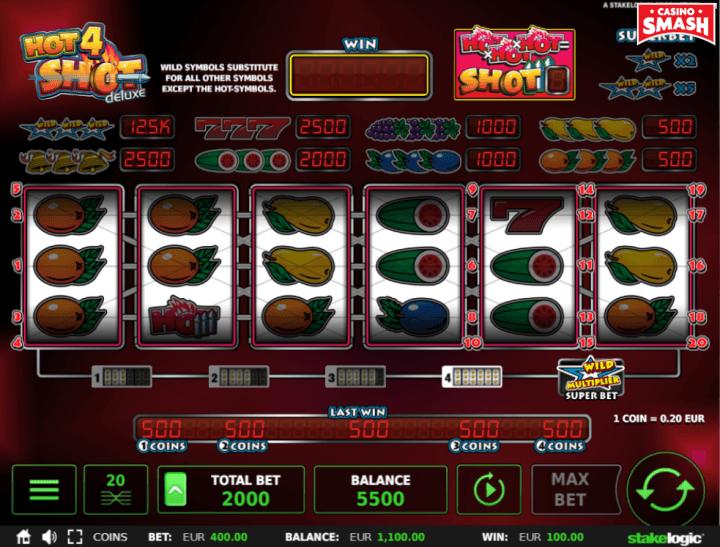 Hot4Shot Deluxe classic fruit Slot machine game