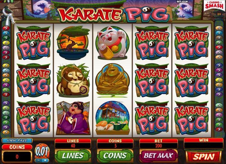 Karate Pig gioco di video Slot machine gratis AAMS