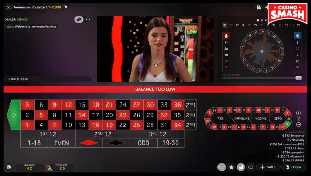 immersive roulette full view