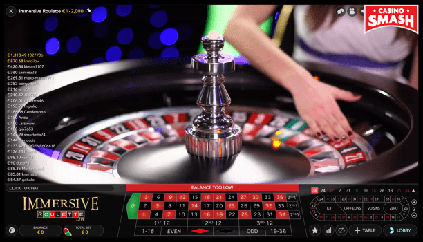 immersive roulette betting tables