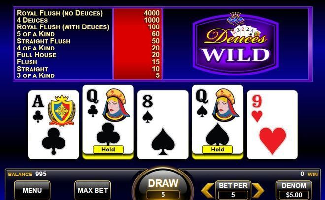 Giocare a Deuces Wild Video Poker On Line