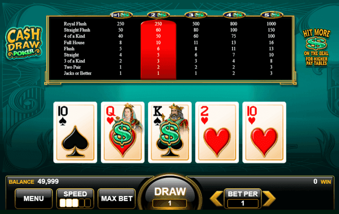 come si vince a video poker on line
