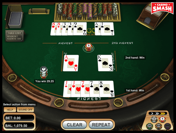pai gow poker strategy: two pair