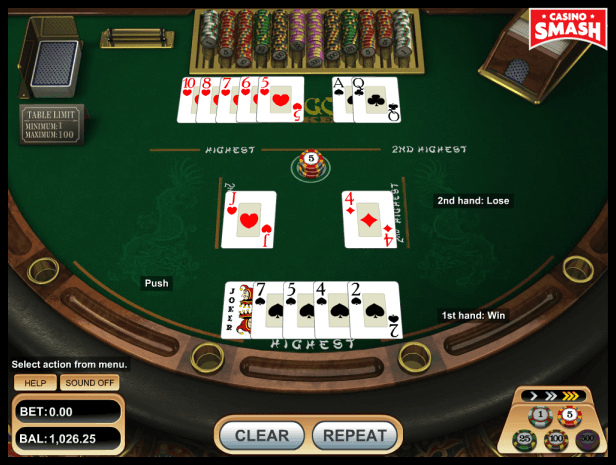 optimal pai-gow poker strategy when playing with flush